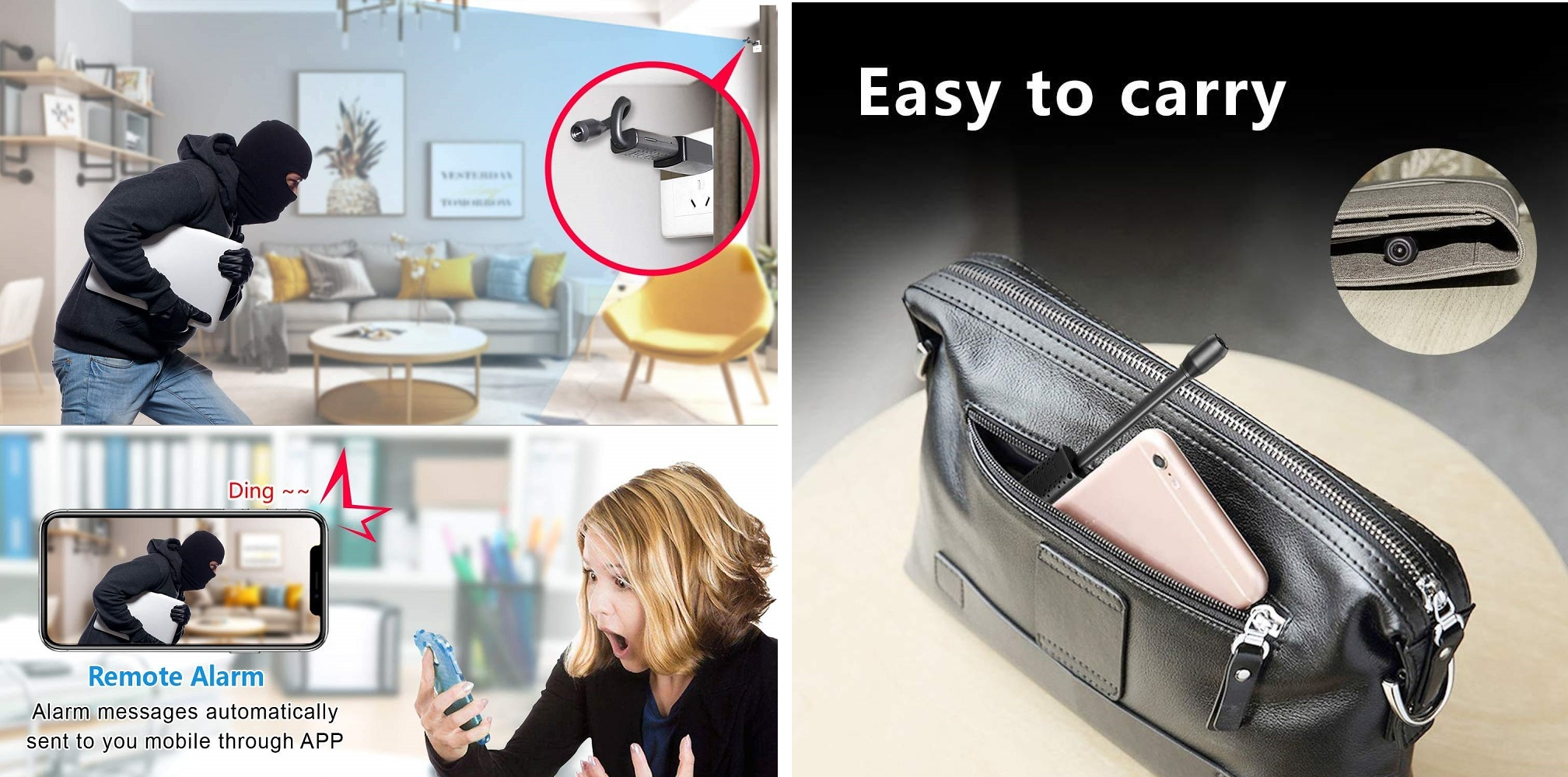 Mini HD 1080P Portable USB Small Micro Covert Nanny Camera with Motion Detection